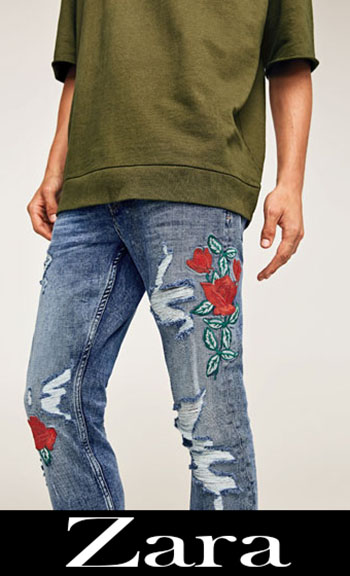 Embroidered jeans Zara fall winter men 6