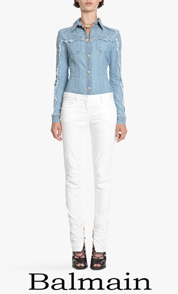 Clothing Balmain Jeans For Women Spring Summer