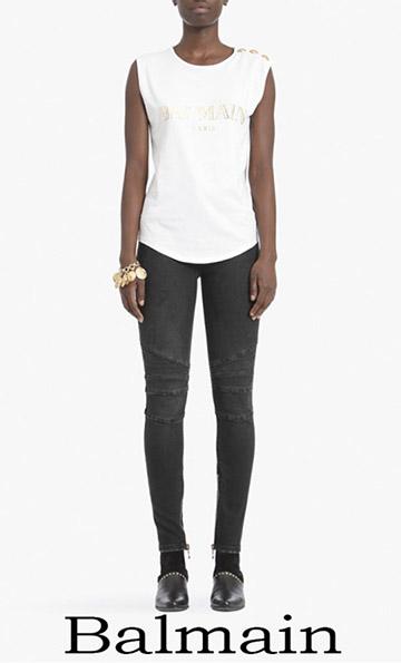 Clothing Balmain T Shirts For Women Spring Summer