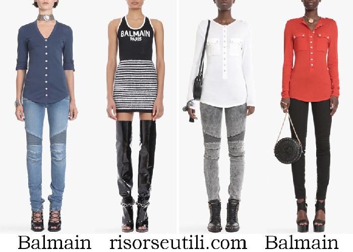 New Arrivals Balmain T Shirts Spring Summer For Women