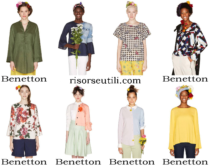 New Arrivals Benetton Shirts For Women Blouses