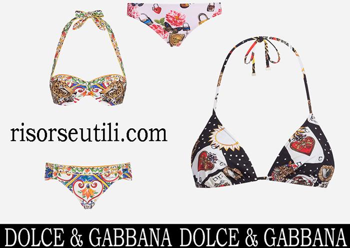 New Arrivals Bikinis Dolce Gabbana 2018 Swimwear