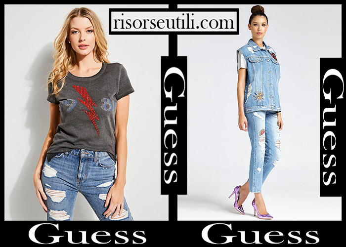 Jeans Guess 2018 2019 Women's New Arrivals Fall Winter