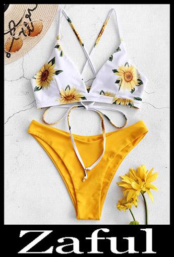 Padded BikiniZAFUL Sunflower Criss Cross Bikini Set