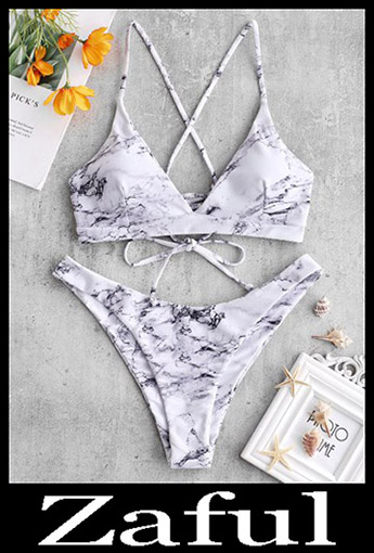 Criss Cross BikiniZAFUL Cross Marble Lace Up Bikini Set