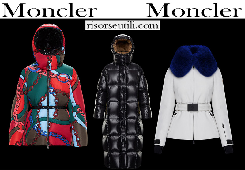 New Moncler down jackets collection for women