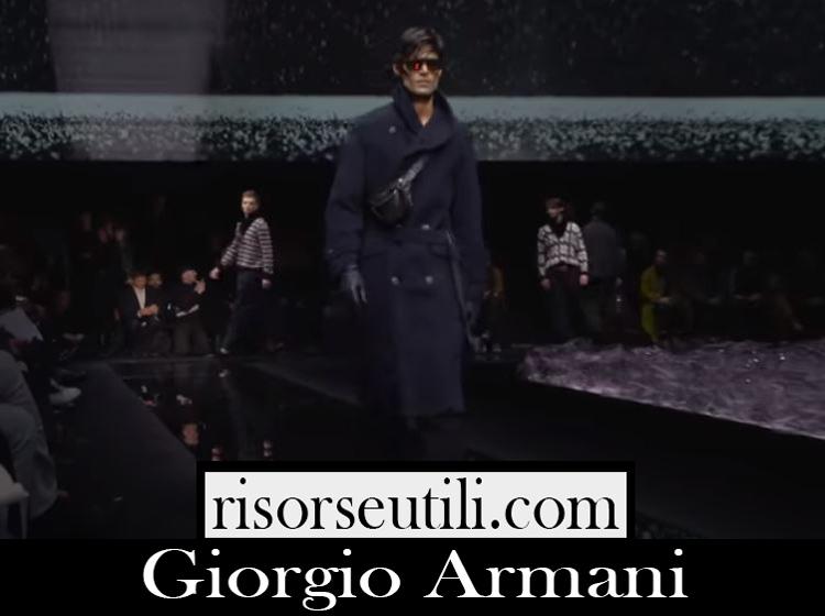 Catwalk Giorgio Armani fashion show F W 2020 21 men