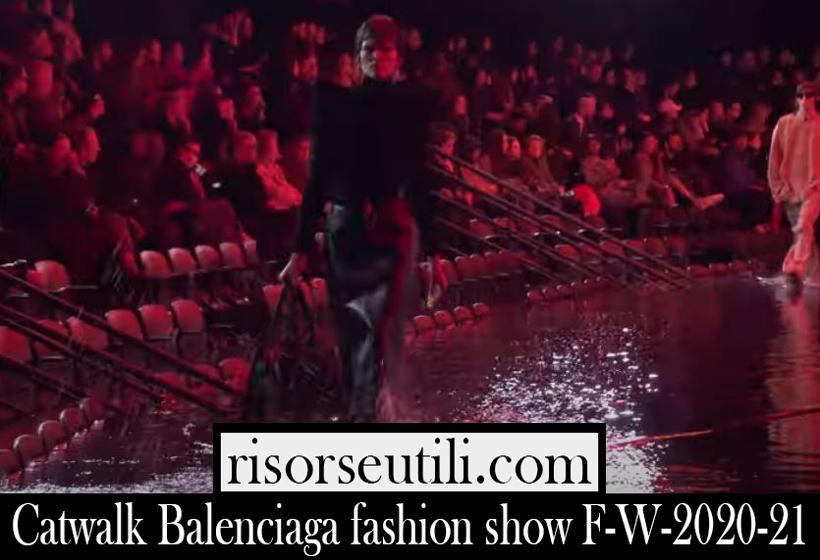 Catwalk Balenciaga fashion show F W 2020 21