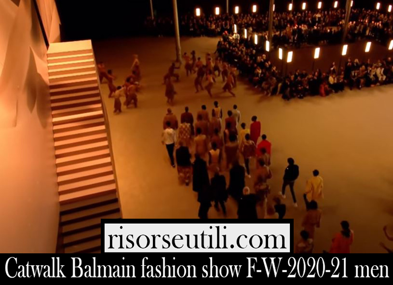 Catwalk Balmain fashion show F W 2020 21 men