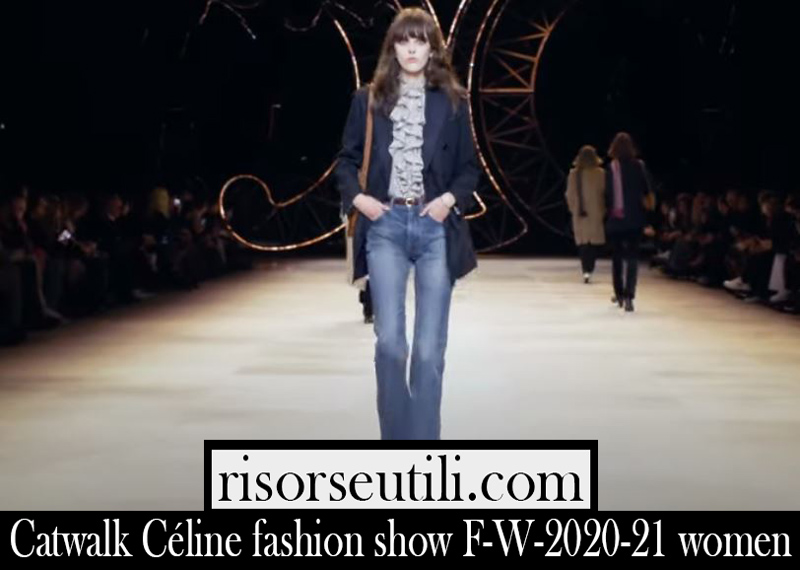 Catwalk Céline fashion show F W 2020 21 women