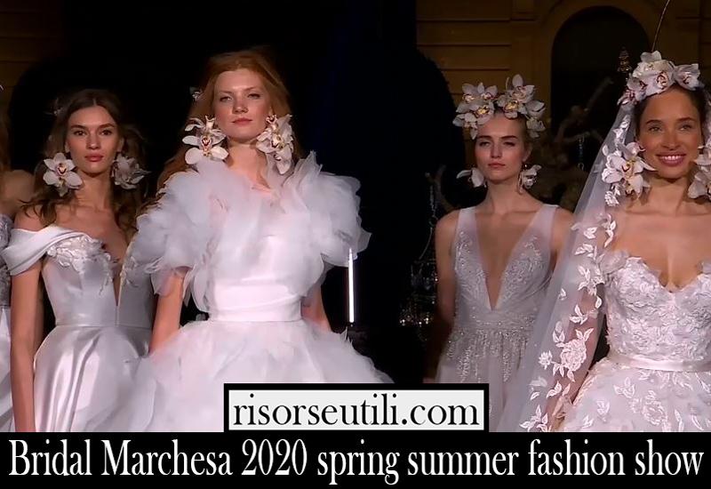 Bridal Marchesa 2020 spring summer fashion show