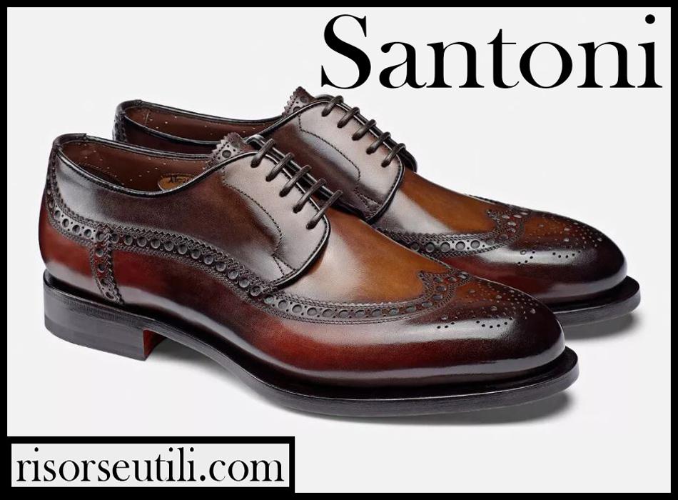 Santoni shoes 2020 new arrivals mens footwear