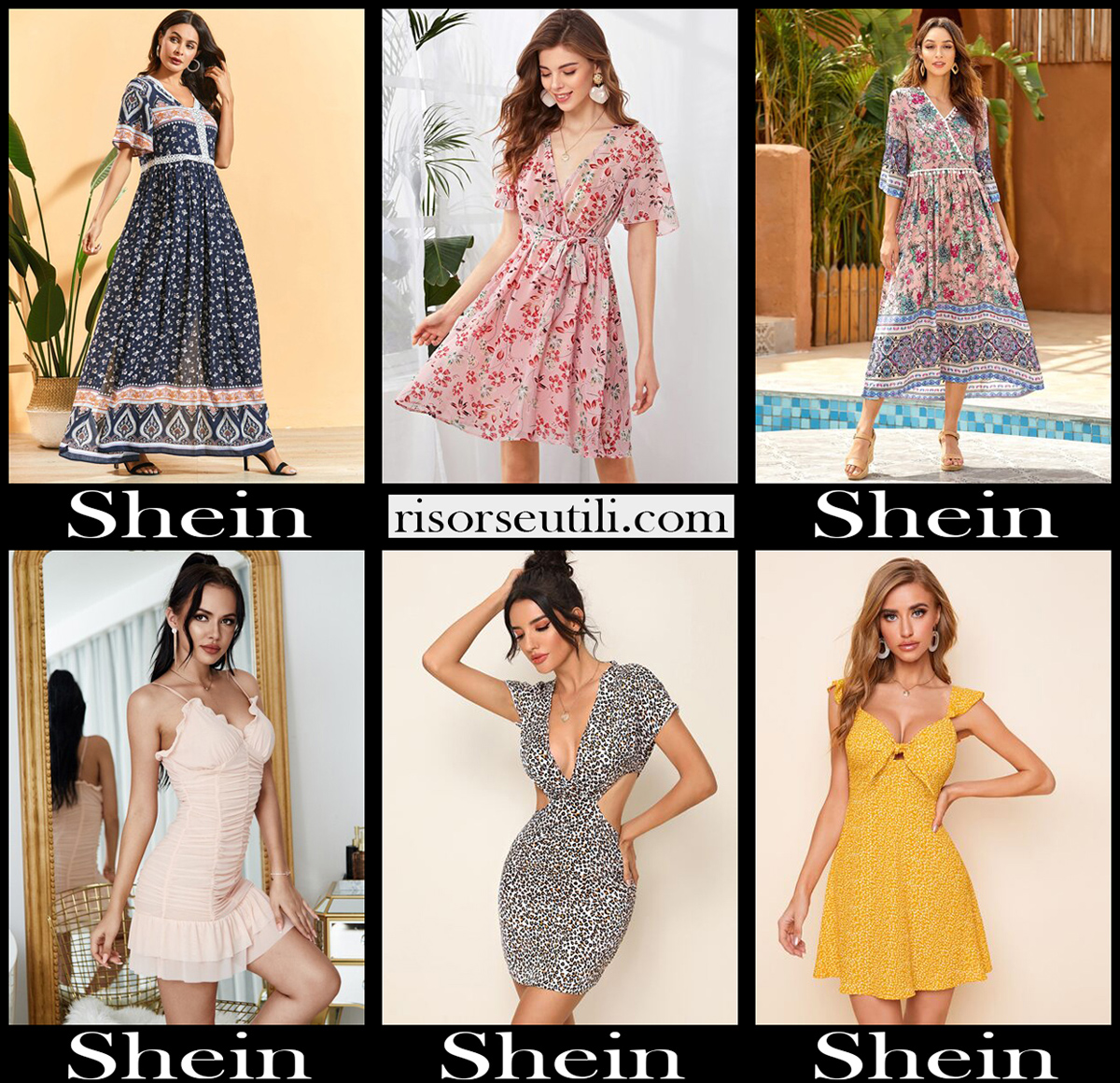 Shein dresses 2020 new arrivals womens clothing
